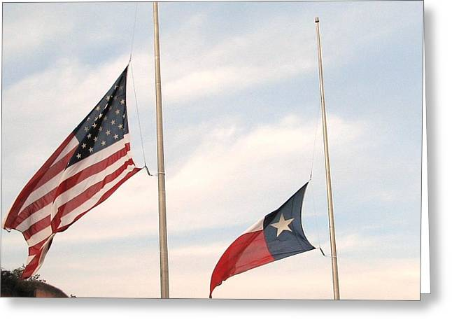 Half Staff Greeting Cards - Remembering  Greeting Card by Shawn Hughes
