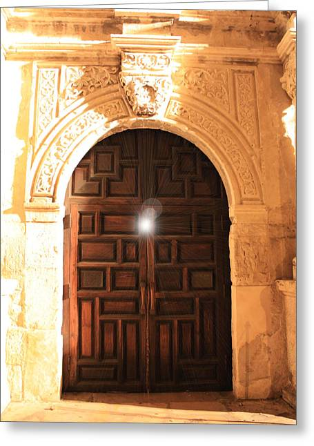 Light Within Greeting Cards - Remembering the Spirit of the Alamo Greeting Card by Carol Groenen