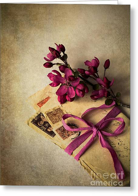 Postage Stamps Greeting Cards - Reminders of You Greeting Card by Jan Bickerton