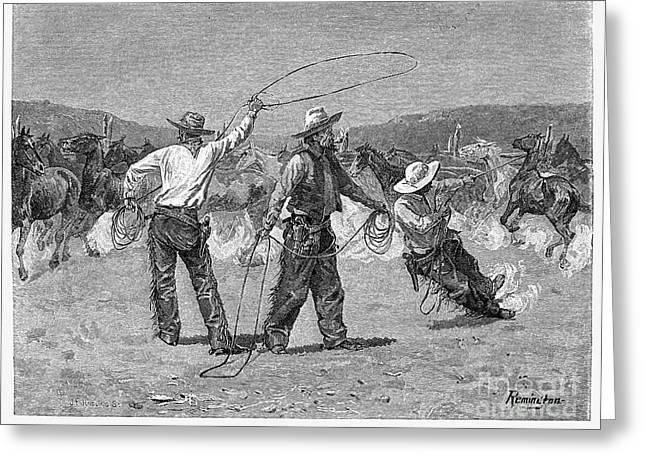 Remington Greeting Cards - Remington: Cowboys Greeting Card by Granger
