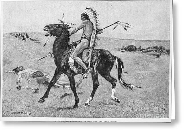 Remington Greeting Cards - Remington: Plains Native American Greeting Card by Granger