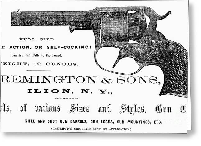 Remington Revolver Greeting Card by Granger