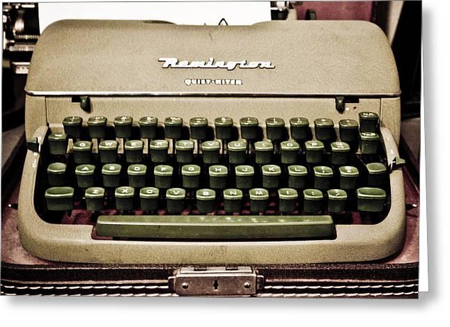 Remington Photographs Greeting Cards - Remington Typewriter Greeting Card by Marilyn Hunt