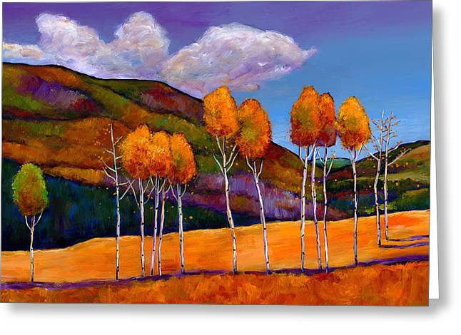 Birch Trees Greeting Cards - Reminiscing Greeting Card by Johnathan Harris