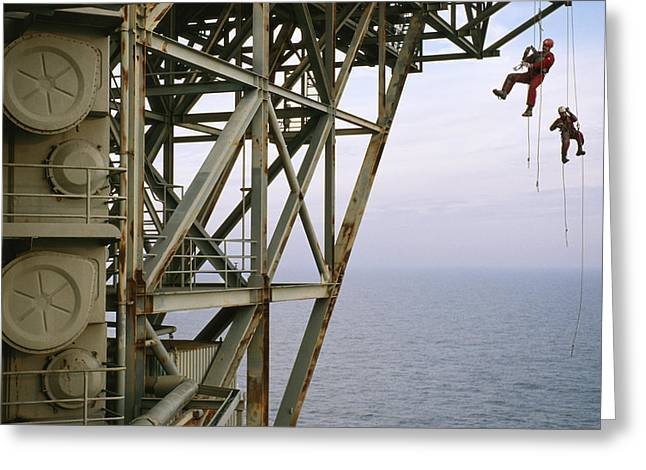 Oil Platform Greeting Cards - Remote Access Technicians R.a.t.s Greeting Card by Justin Guariglia