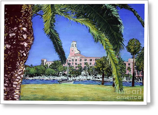 St Petersburg Florida Pastels Greeting Cards - Renaissance Greeting Card by Barry Rothstein