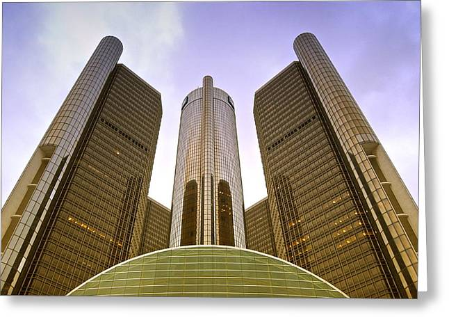 Peychich Greeting Cards - Renaissance Center Greeting Card by Michael Peychich