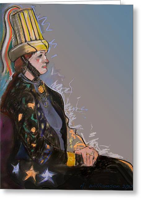 Renaissance Pastels Greeting Cards - Renaissance Costume Greeting Card by AJ Williamson