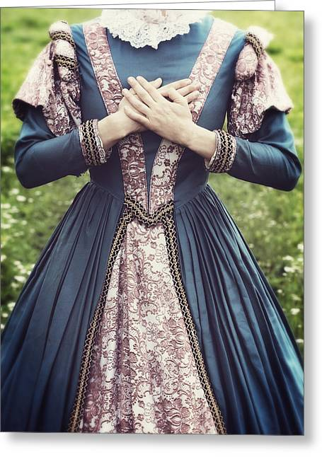 Collar Greeting Cards - Renaissance Princess Greeting Card by Joana Kruse