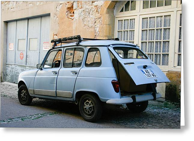 French Open Greeting Cards - Renault 4 Greeting Card by Nomad Art And  Design