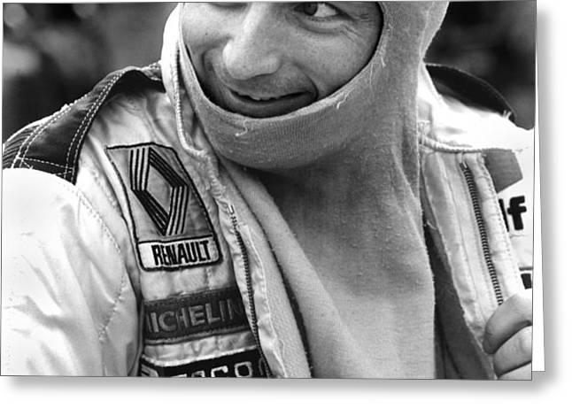 Rene Arnoux Greeting Card by Mike Flynn