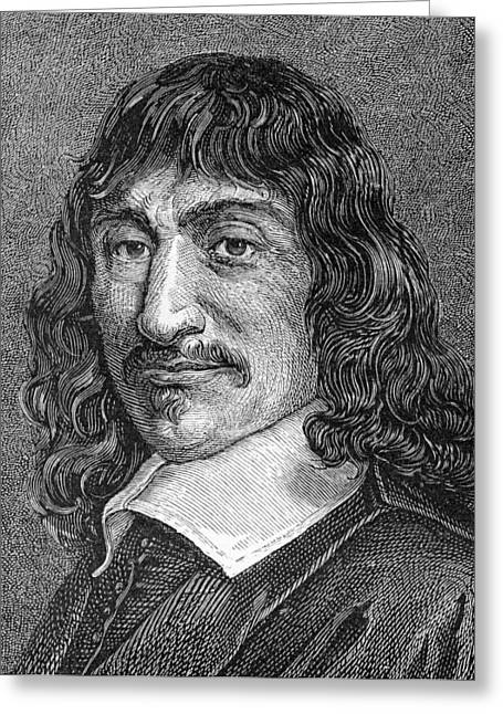Savant Photographs Greeting Cards - Rene Descartes, French Mathematician Greeting Card by