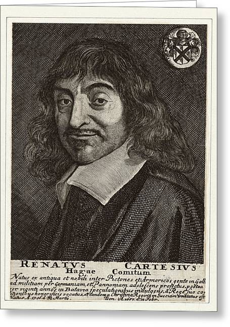 Caption Greeting Cards - Rene Descartes, French Mathematician Greeting Card by Humanities & Social Sciences Librarynew York Public Library