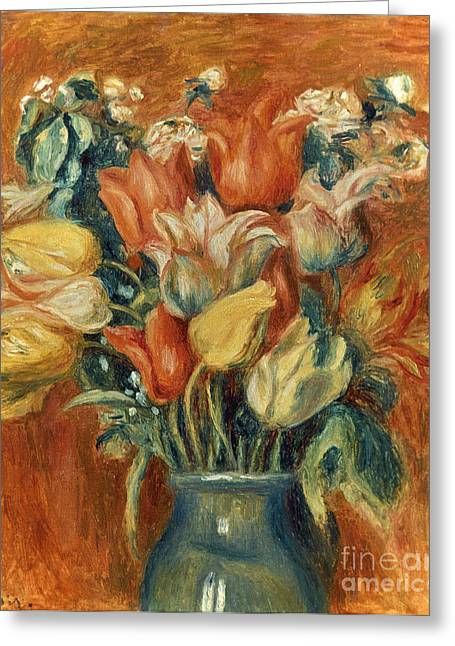 20th Greeting Cards - Renoir: Bouquet Of Tulips Greeting Card by Granger
