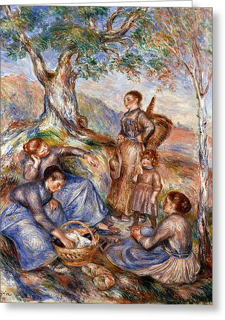 1880s Photographs Greeting Cards - Renoir: Grape Pickers Greeting Card by Granger