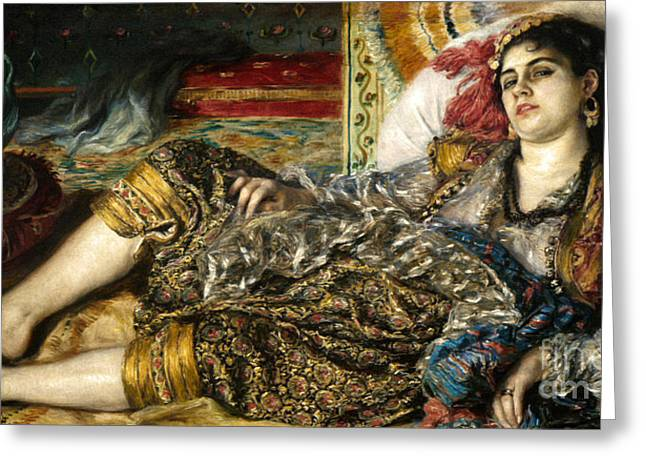 RENOIR: ODALISQUE, 1870 Greeting Card by Granger