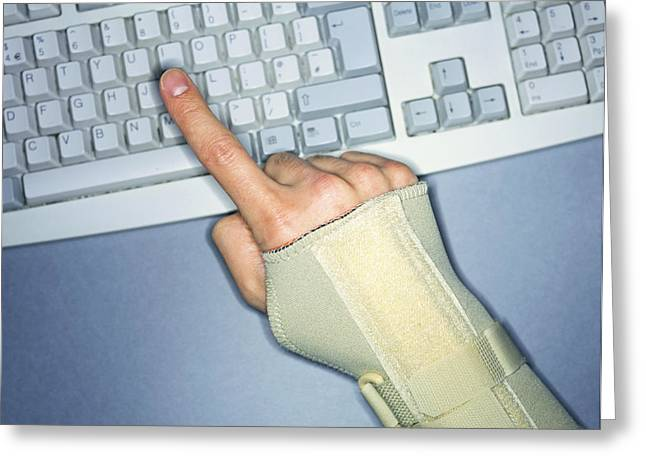 Straps Greeting Cards - Repetitive Strain Injury Greeting Card by Lawrence Lawry