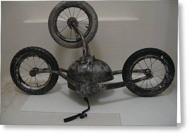 Wheels Sculptures Greeting Cards - Repititous Thought Machine Greeting Card by Beka Burns