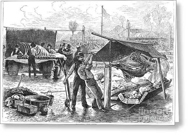 REPUBLICAN BARBECUE, 1876 Greeting Card by Granger