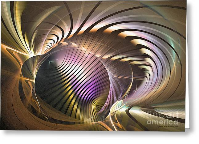 Algorithmic Abstract Greeting Cards - Requiem Greeting Card by Sipo Liimatainen