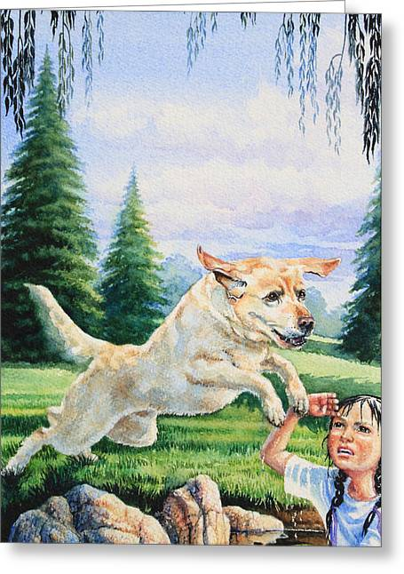 Canadian Illustrator Greeting Cards - Rescue Dog Greeting Card by Hanne Lore Koehler