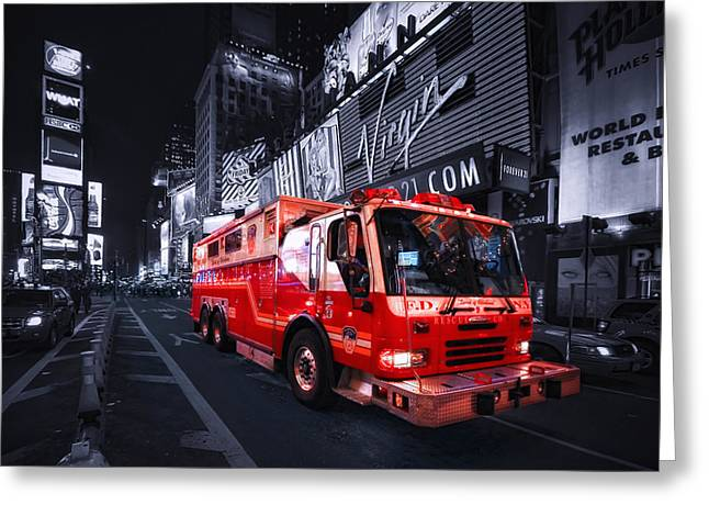 Firetruck Greeting Cards - Rescue Me Greeting Card by Evelina Kremsdorf