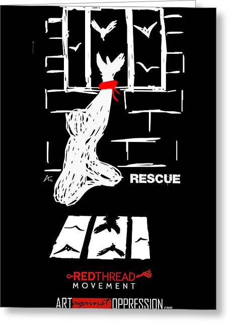 Human Trafficking Digital Greeting Cards - Rescue Project Commemorative Greeting Card by Armando Heredia
