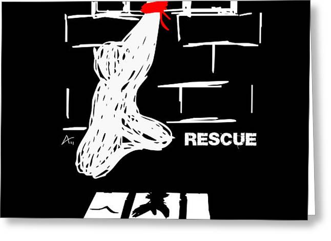 Rescue Project Commemorative Greeting Card by Armando Heredia