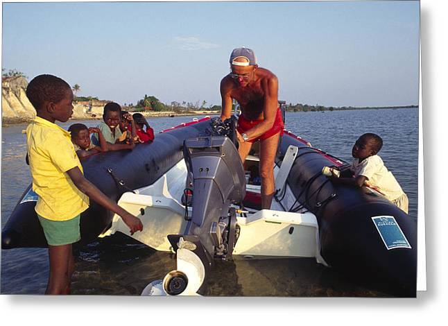 Black Leaders. Greeting Cards - Research Dinghy Greeting Card by Alexis Rosenfeld