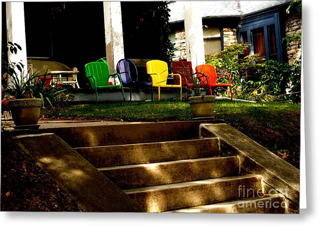Lawn Chair Greeting Cards - Reserved Seats Greeting Card by Fred Wilson