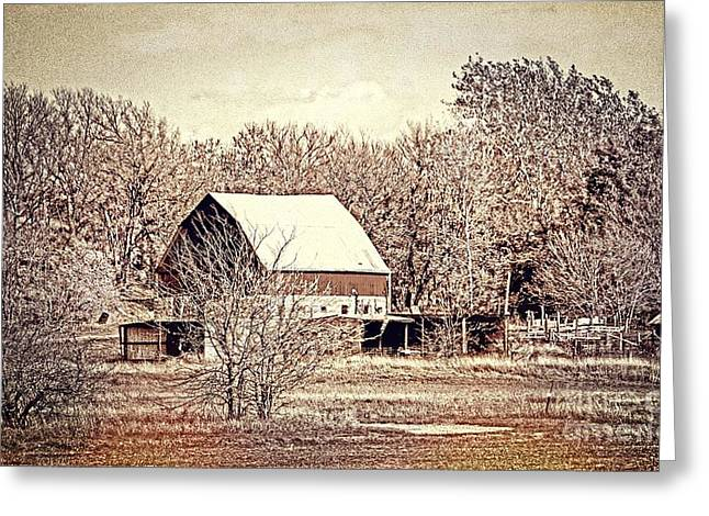 Barn Pen And Ink Photographs Greeting Cards - Reservoir Farm 5 VS Greeting Card by Sharlotte Hughes