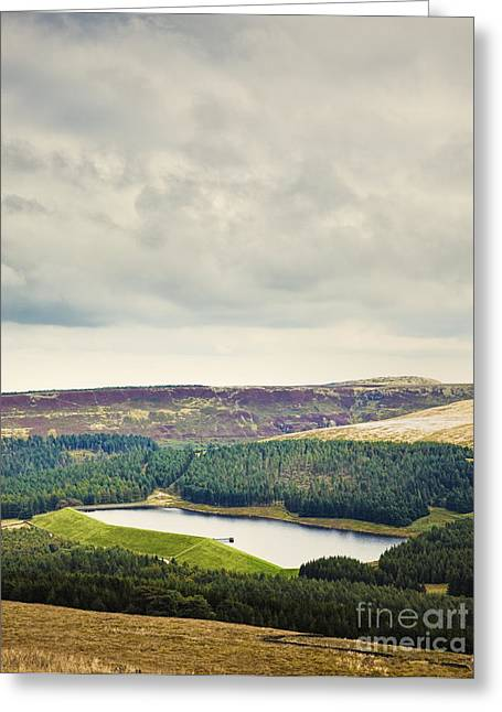 West Yorkshire Greeting Cards - Reservoir in the English Countryside Greeting Card by Jon Boyes