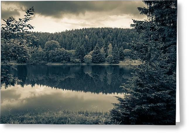 Wandern Greeting Cards - reservoir Koenigshuette Greeting Card by Andreas Levi