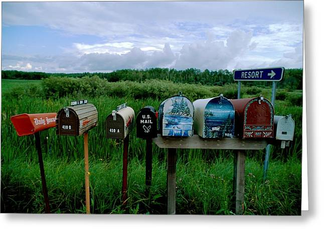 Refuges And Reserves Greeting Cards - Resident Mailboxes, Voyageurs N.p Greeting Card by Richard Olsenius
