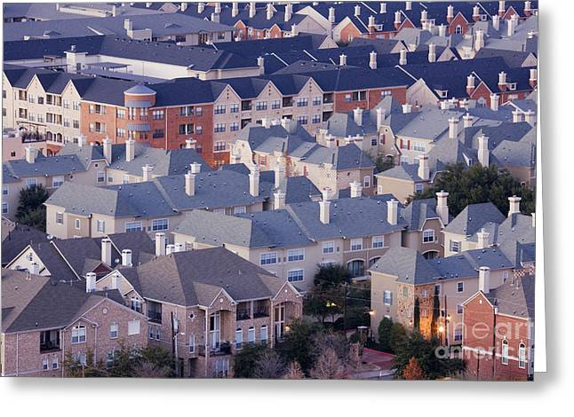 Residential Area Greeting Card by Jeremy Woodhouse