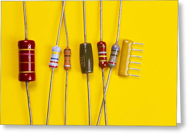 Resistor Greeting Cards - Resistors Greeting Card by Andrew Lambert Photography
