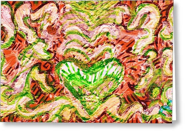 Resonating Heart Greeting Card by Anne-Elizabeth Whiteway