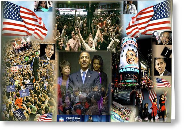 The 2008 Presidential Election Digital Art Greeting Cards - Respectfully Yours..... Mr. President 2 Greeting Card by Terry Wallace