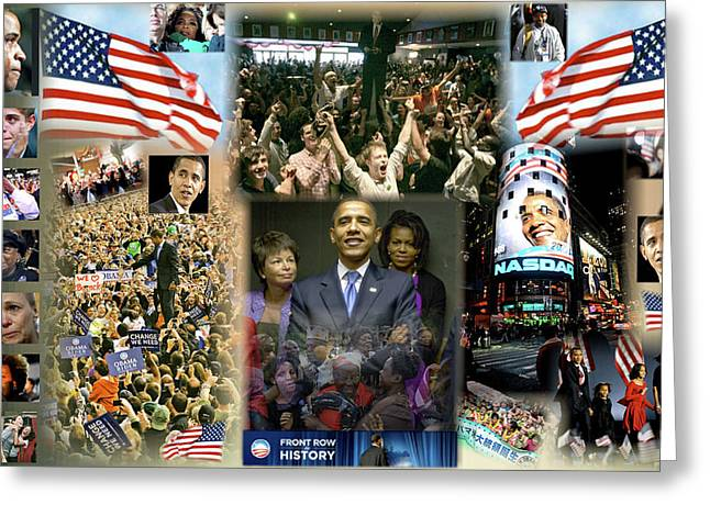The 2008 Presidential Election Digital Art Greeting Cards - Respectfully Yours..... Mr. President Greeting Card by Terry Wallace