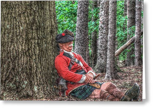 Rest from the March Royal Highlander Greeting Card by Randy Steele