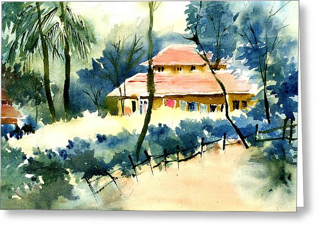 Anil Nene Greeting Cards - Rest House Greeting Card by Anil Nene