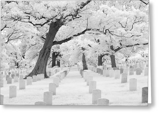 Arlington Greeting Cards - Rest in Peace Greeting Card by James Walsh