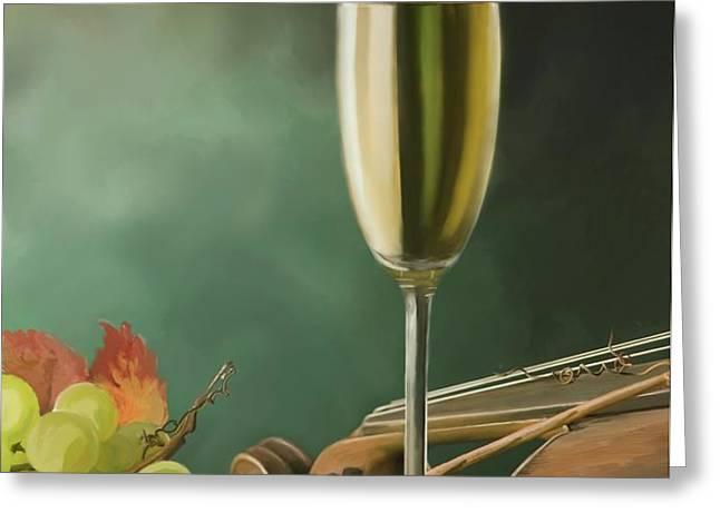 Restaurant menu paintings Greeting Card by Michael Greenaway