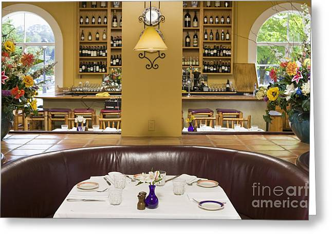 Seattle Taverns Greeting Cards - Restaurant Table Greeting Card by Andersen Ross