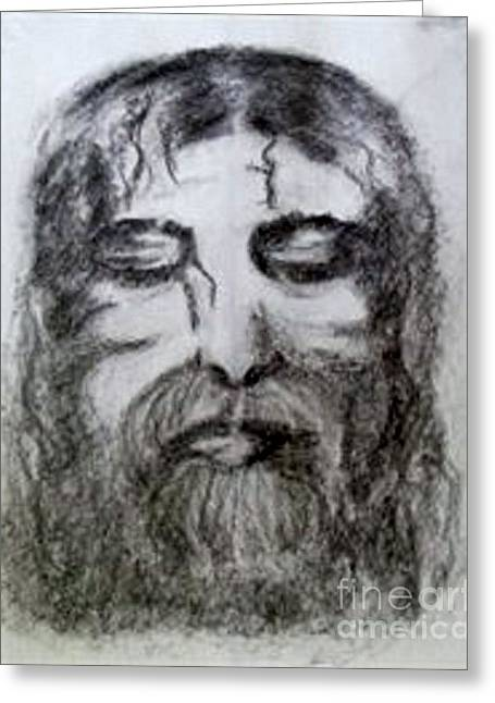 White Beard Mixed Media Greeting Cards - Resting a Weary Soul Greeting Card by Lori  Lovetere