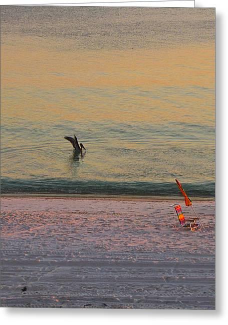 Panama City Beach Greeting Cards - Resting Greeting Card by Sandwalker Photos