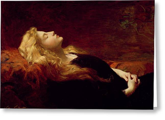 Blonde On Blonde Greeting Cards - Resting Greeting Card by Victor Gabriel Gilbert