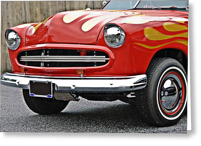 Sixties Style Automobile Greeting Cards - Restored Classic Car Greeting Card by Susan Leggett