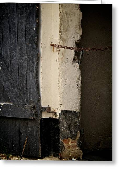 Old Door Greeting Cards - Restricted Greeting Card by Odd Jeppesen