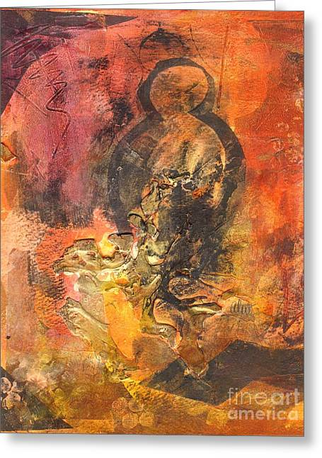 Eternal Life Mixed Media Greeting Cards - Resurrection Greeting Card by Angela L Walker